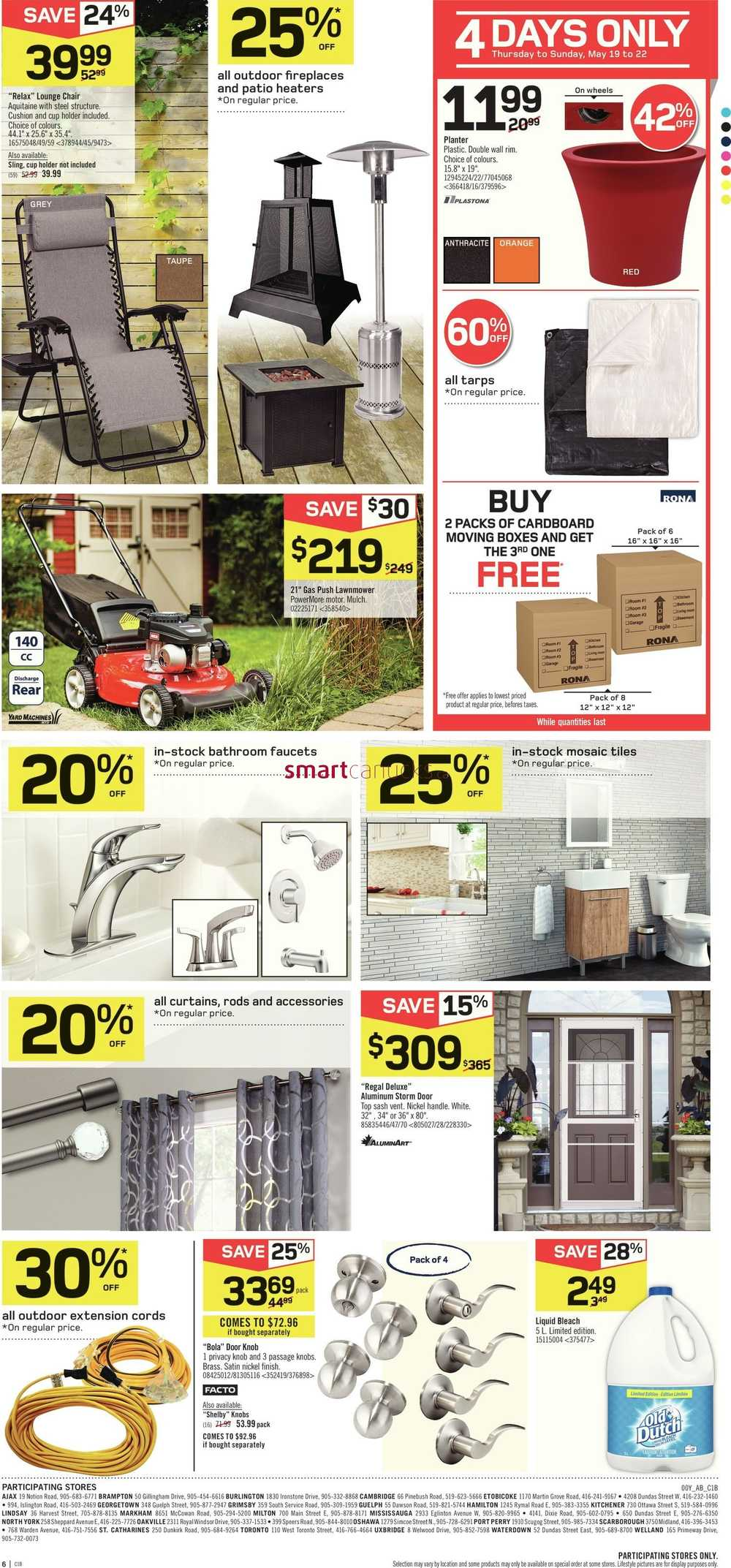 Rona Moving Boxes Rona On Flyer May 19 To 25