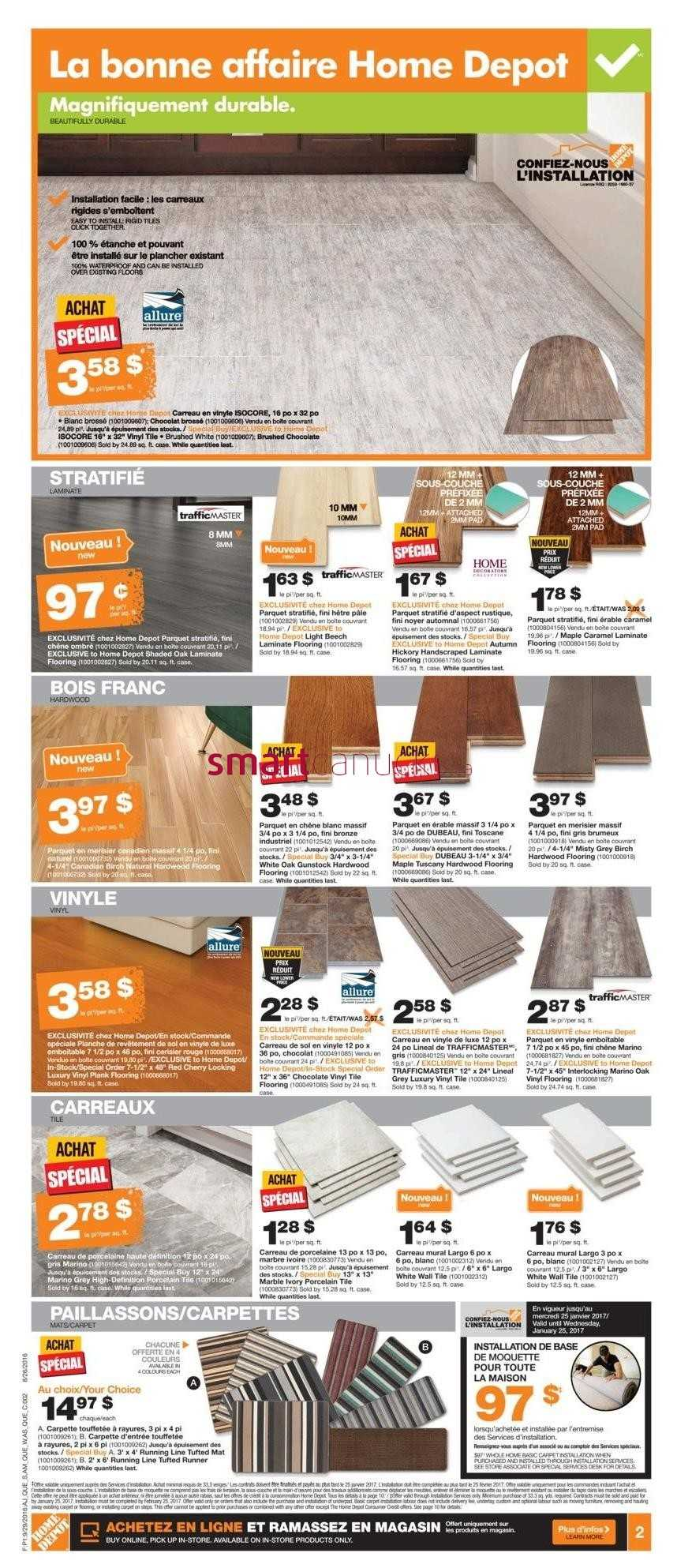 Plancher Home Depot Home Depot Qc Flyer September 29 To October 5