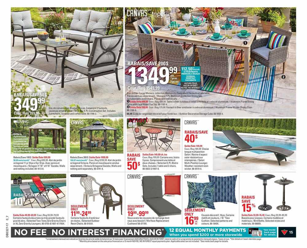 Sofa Legs Canadian Tire Canadian Tire Qc Flyer June 29 To July 5