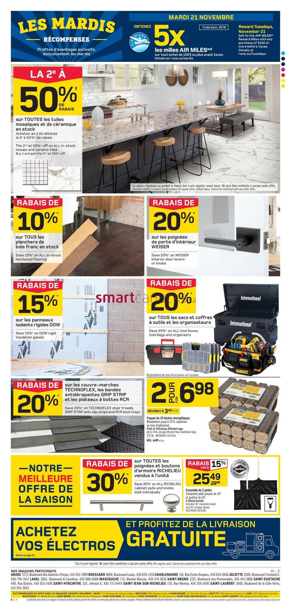 Projecteur Led Exterieur Rona Rona Home Garden Qc Flyer November 16 To 22