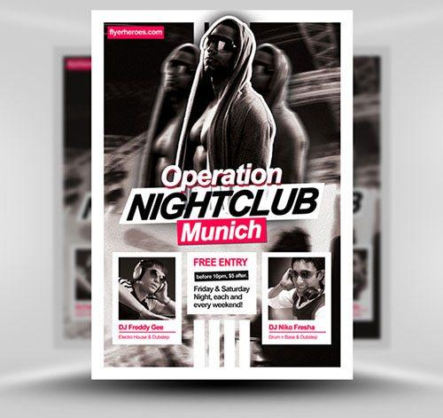 Top 20 Best Club and Party Free PSD Flyer Templates free to download