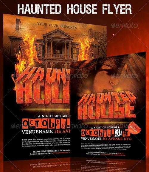 Top 30 Great Halloween Party Flyer Templates Download Flyer Templates - house flyer template
