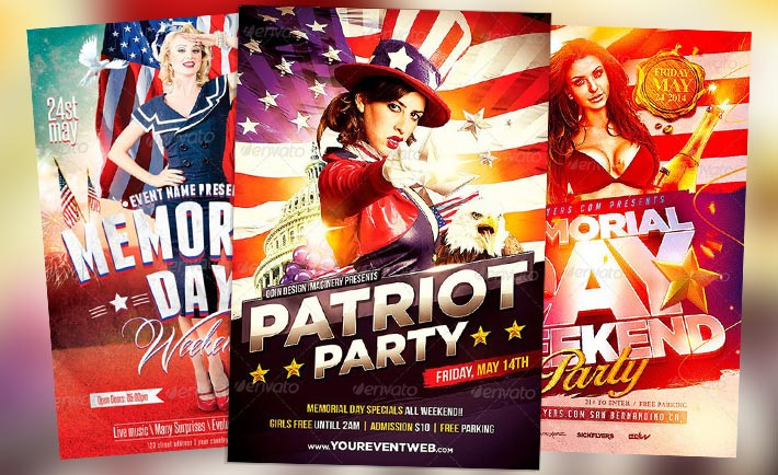 Download the best Memorial Day Flyer Templates - Download PSD Flyer!