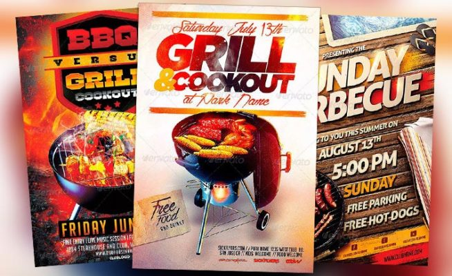 Download the best Barbecue BBQ Flyer Templates for Photoshop - bbq flyer
