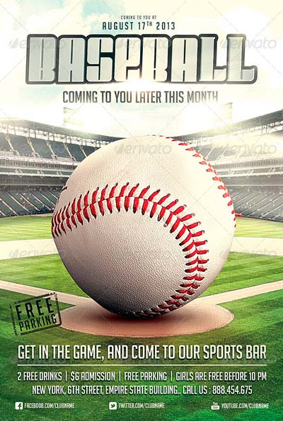 Best Baseball Sports Flyer Templates No1