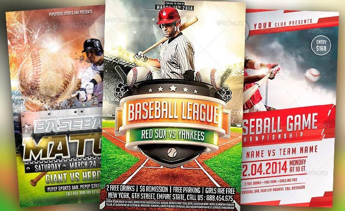 Best Baseball Sports Flyer Templates No1 - free sports flyer templates
