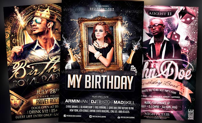 Best Birthday Flyer Templates No1 - Download PSD Flyer - birthday flyer templates free