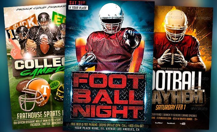 Football Flyer Templates for Photoshop - Download Sport Flyer Designs