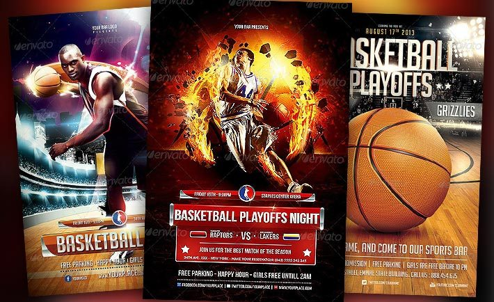 Basketball Flyer Templates for Photoshop - Download Sport Flyer Designs - basketball flyer example