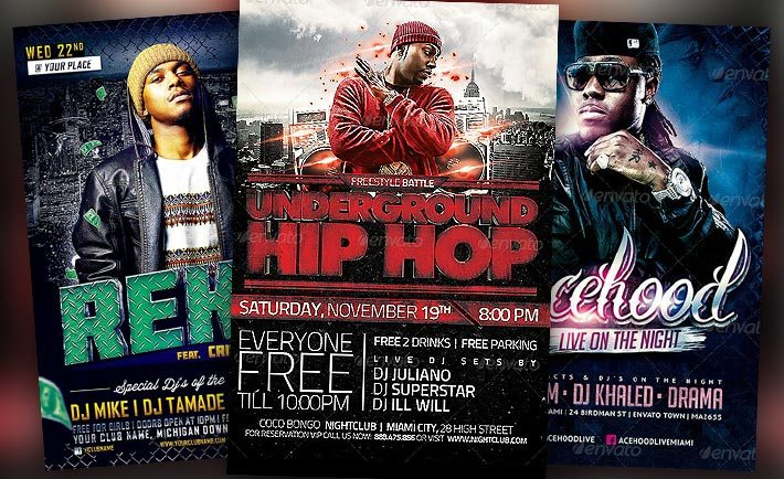 Best Hip Hop Flyer Templates No1 - Download PSD Flyer