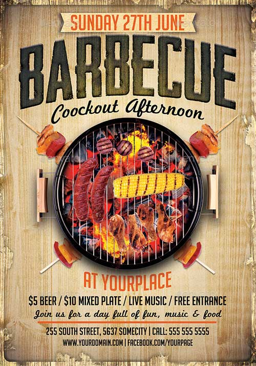 Downoad 20 Tasty BBQ Event Flyer Templates - bbq flyer