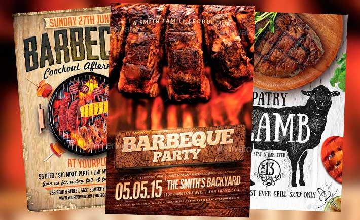 Downoad 20 Tasty BBQ Event Flyer Templates - luncheon flyer template