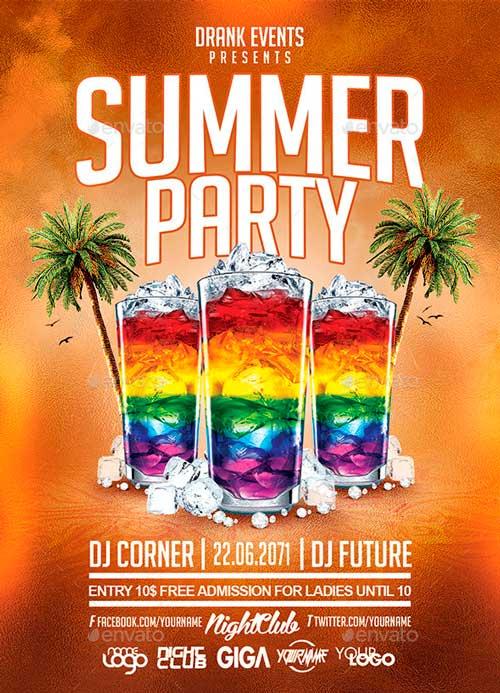 Best Summer Flyer Templates No3 PSD Downloads