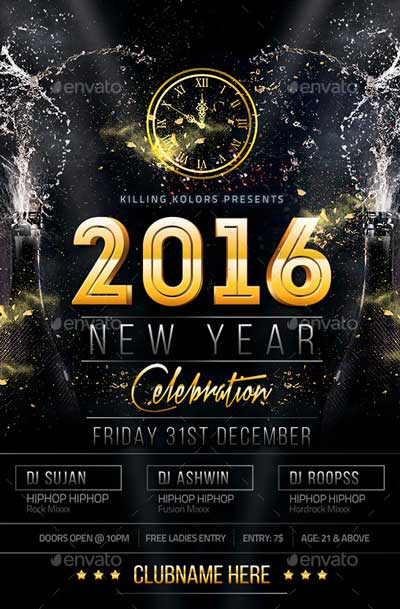 Top 30 New Year Flyer Templates - Download PSD Flyer for Photoshop
