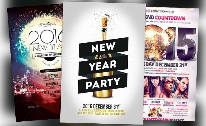 Top 30 New Year Flyer Templates - Download PSD Flyer for Photoshop - new years party flyer
