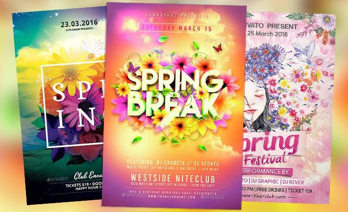 Download Top 50 Spring Flyer Templates Collection on Flyersonar - create club flyer online free