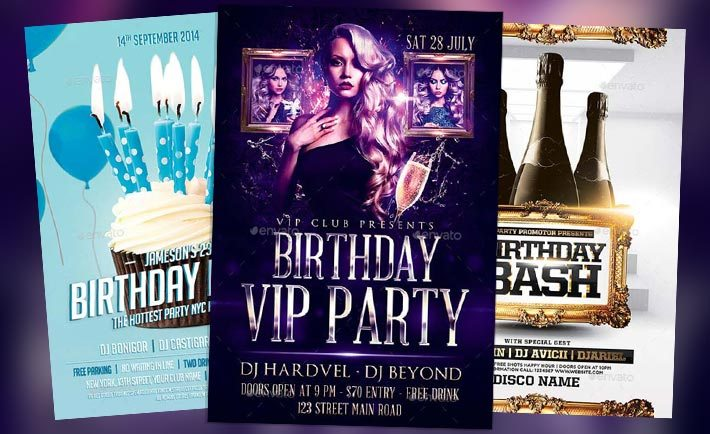 Download Top 50 Birthday Flyer Templates Collection on Flyersonar - birthday flyer templates free