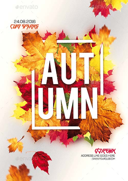 Top 25 Autumn Flyer Templates Collection - Download for Photoshop