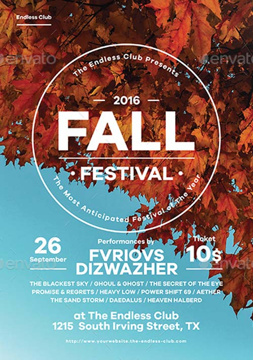 fall flyer - Pinarkubkireklamowe