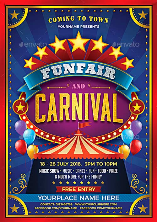 Top 30 Best Carnival Flyer Templates 2017 - Download PSD Flyer for