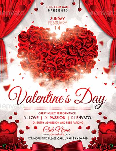 Top 120 Best Valentines Day Flyer Templates 2017 - Download PSD