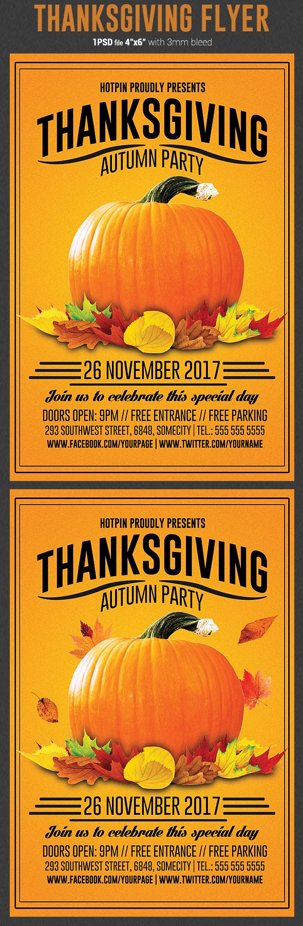 thanksgiving flyer template