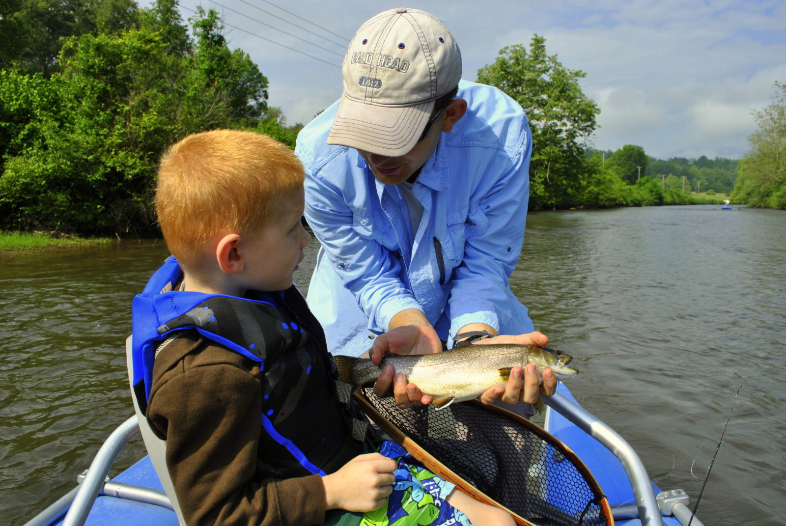 Kids guided fly fishing trips family fly fishing in the for Kids fishing net