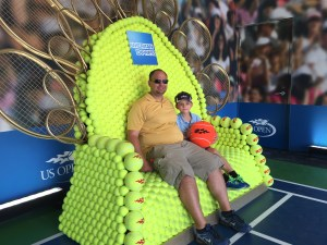 John Michael and I in Amex Tennis Thrown