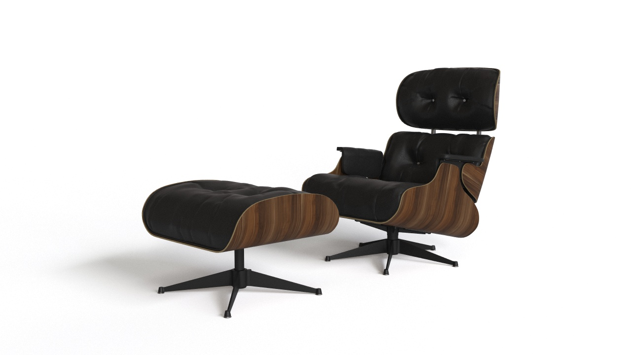 Silla Charles Eames Eames Lounge Chair With Ottoman Flyingarchitecture