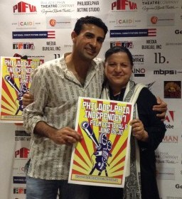 Co-director Nitin Sawhney with his mom Pushpa at the Philadelphia Independent Film Festival, June 30, 2013.