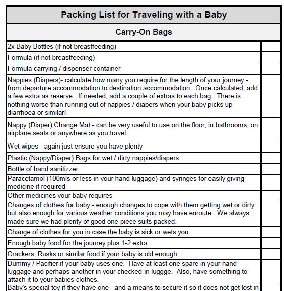 Traveling with a Toddler Checklist Download yours here! - Flying