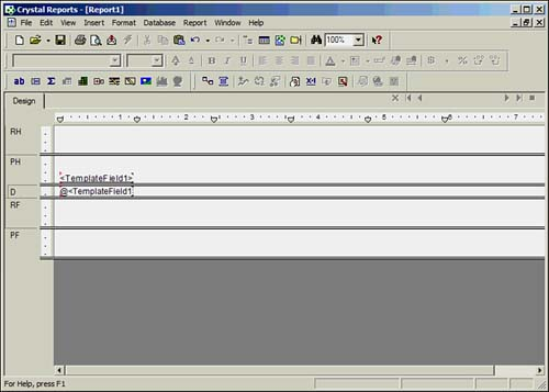Using Template Field Objects Sams Teach Yourself Crystal Reports 9