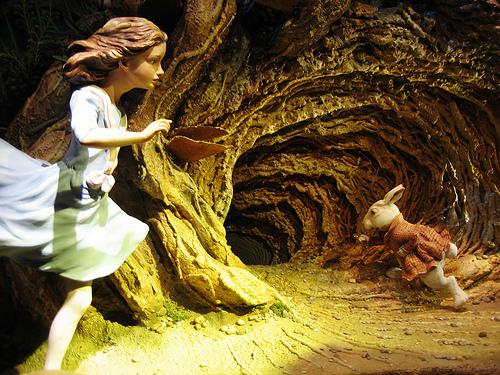 Falling Down The Rabbit Hole Wallpaper Pamela Leigh Richards 187 Stop Following The White Rabbit