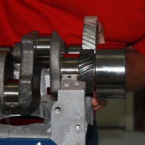 Reconditioned Crank Being Installed in an Engine