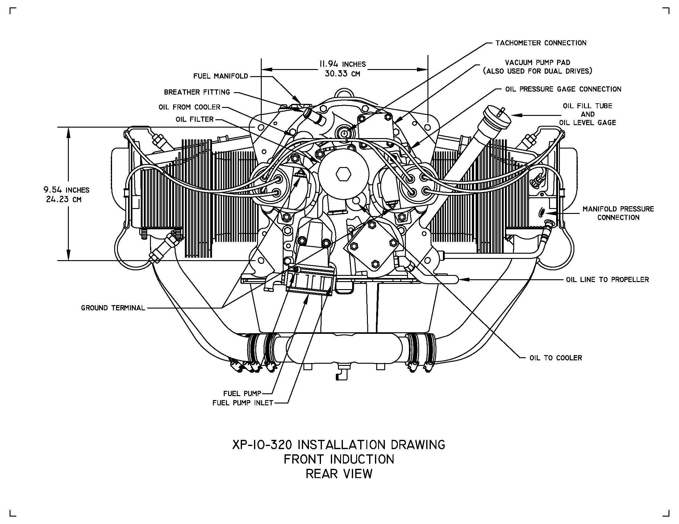 engine cooling system diagram lycoming