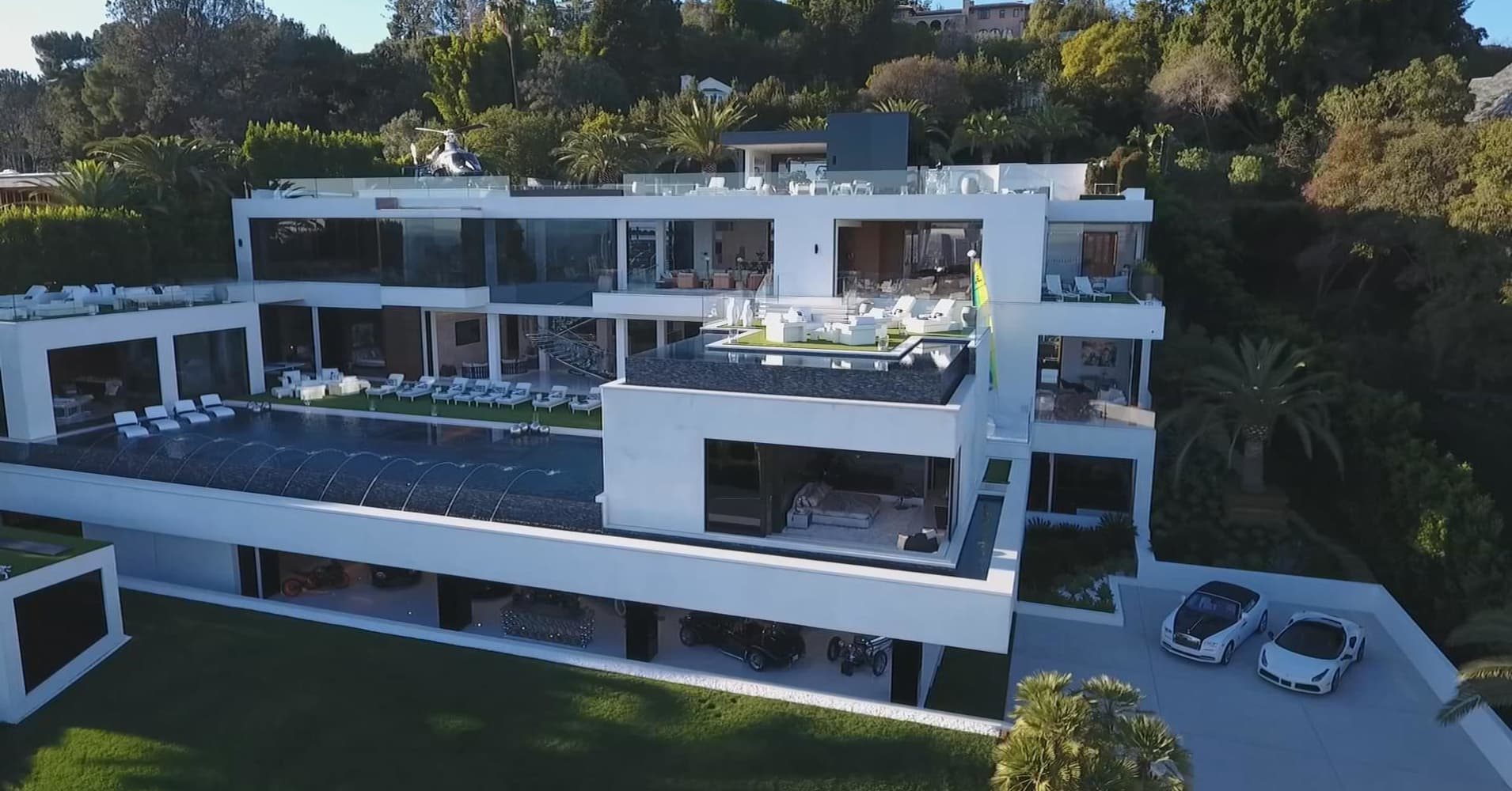 Bel Air Mega Mansion For Sale Most Expensive Home Secret Lives Super Rich Periscope 360