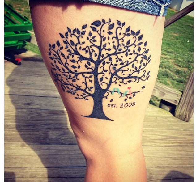 Family tree tattoos let your family know you love them for Family of birds tattoo