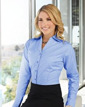 Blue Dress Shirt and Pencil Skirt