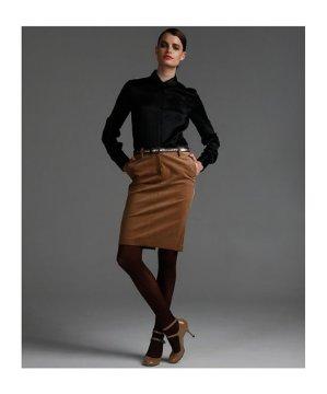 Camel Corduroy Pencil Skirt