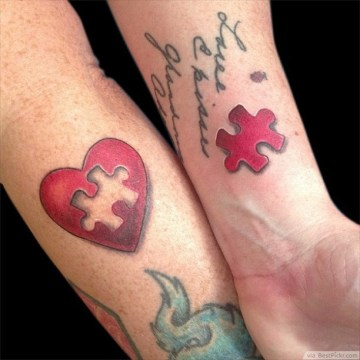 55 awesome matching couple tattoo design ideas for Married couple tattoos