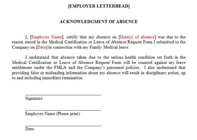 FMLA FAQ Can an Employer Require That an Employee Sign a Form - leave application form for employee