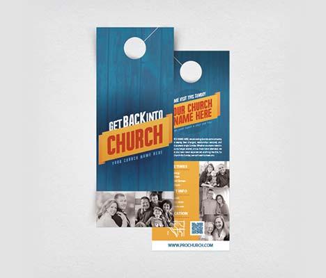 Church Door Hangers Customizable Designs