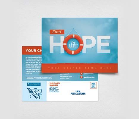 Church Postcards Customizable Designs