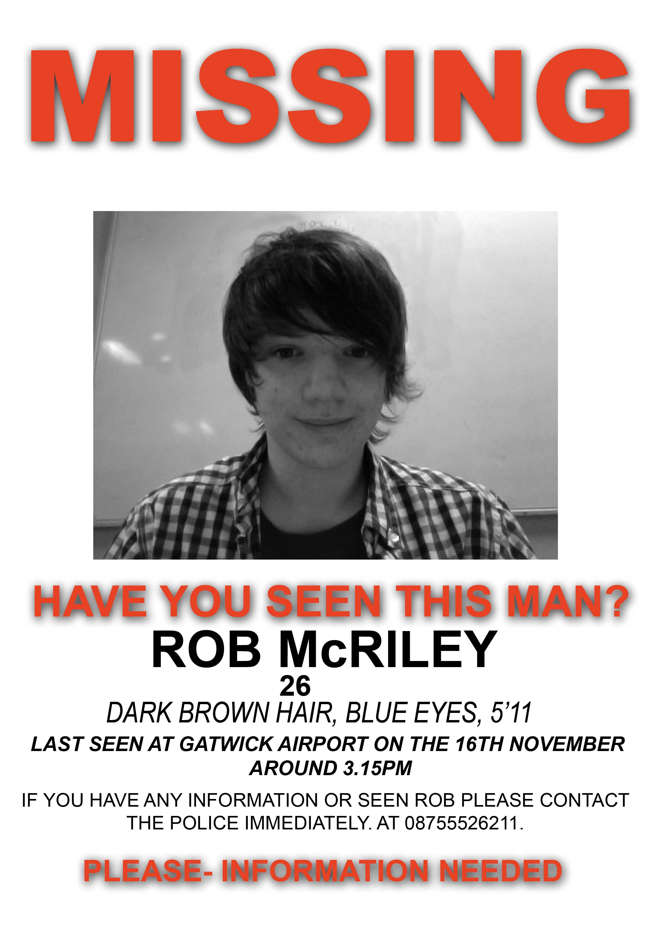 missing persons poster template – Missing Person Poster