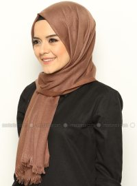 The fine Pashmina Shawl - Brown - Mervin Sal