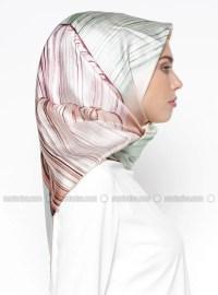 Multi - Printed - Twill - %100 Silk - Scarf