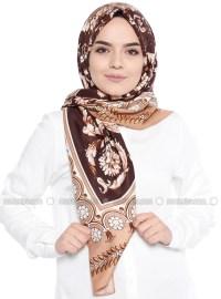 Brown - Floral - Shawl