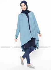 Blue - Unlined - Shawl Collar - Jacket