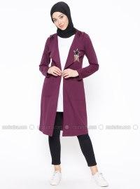 Purple - Unlined - Shawl Collar - Jacket