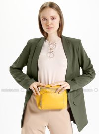 Khaki - Unlined - Shawl Collar - Jacket